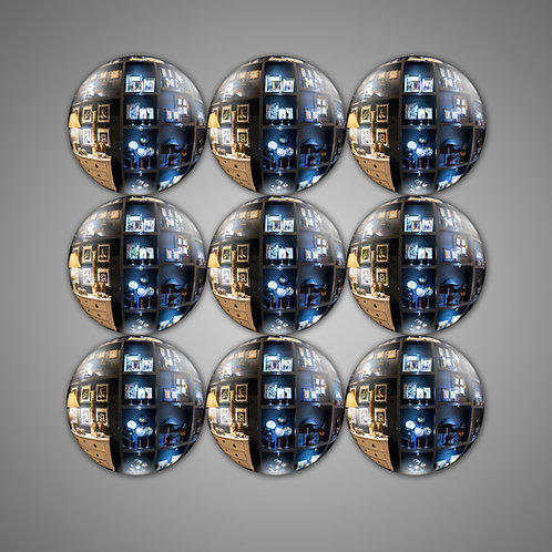 FLAT WITCH MIRRORS (SET OF 9)