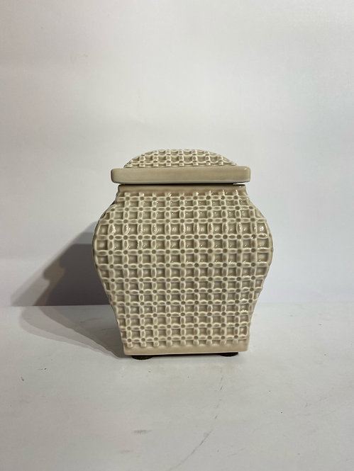 Porcelain Box with Lid in Tortora