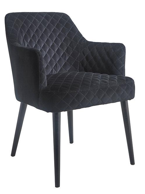 Black Velvet Armchair