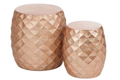 Set of 2 Rose Gold Side Tables
