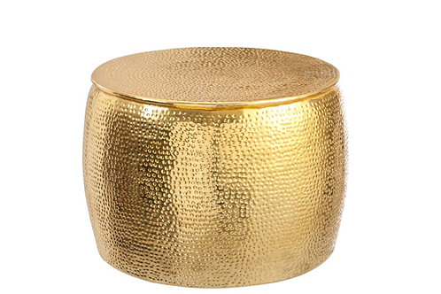 Sidetable Round Hammered Gold