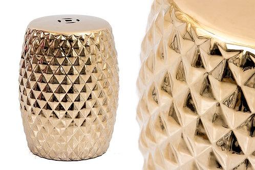 Ceramic Gold Stool