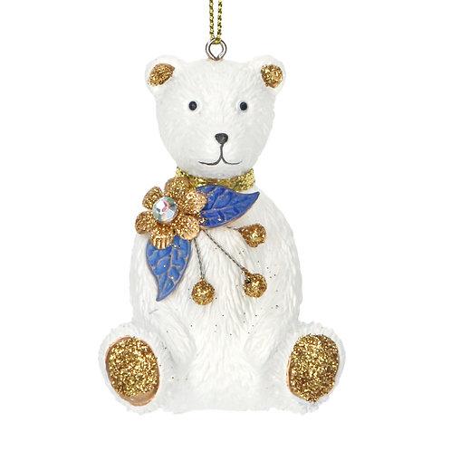 Blue/White/Gold Teddy Bear