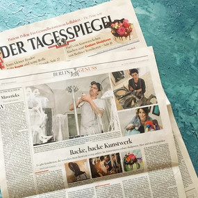 """Big honor to be called: """"One of the most artistic cakes"""" by Der Tagesspiegel"""