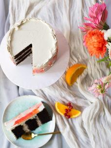 Mini cake + small bouquet