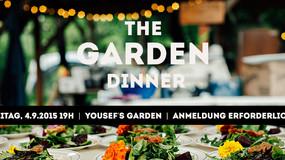 Join us for the last GARDEN dinner of summer 2015