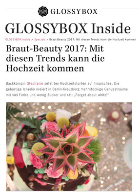 Glossy Box recommending CakesBerlin
