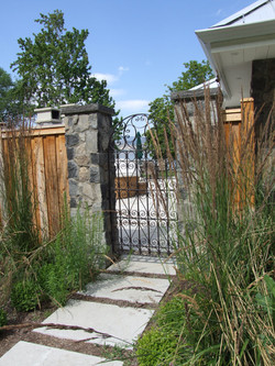 gate and columns Naramata