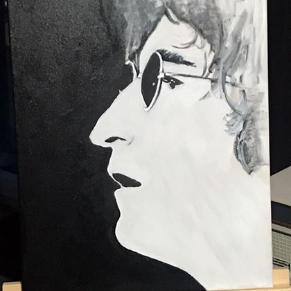 Paint it Black John Lennon Canvas