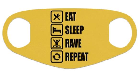 Eat Sleep Yellow Mask
