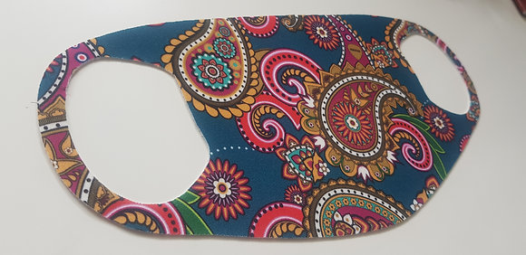 Songbyrd Teal Paisley Face Mask