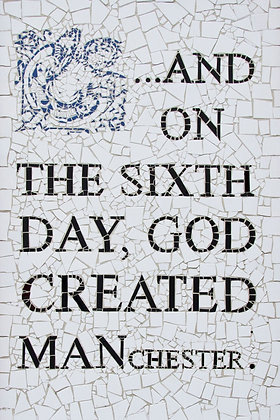 God Created Manchester Poster