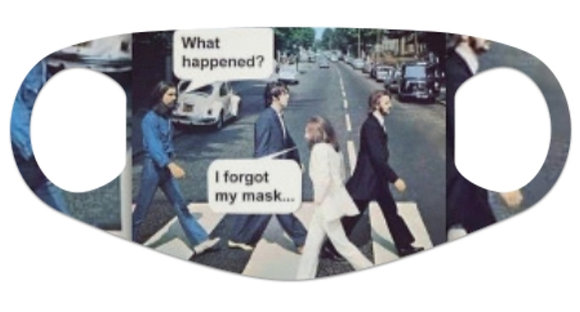 Abbey Road U Turn Face Mask