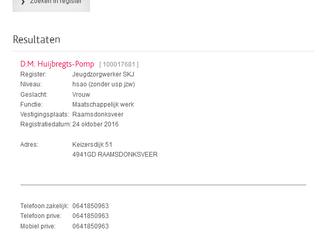 Registratie Jeugdzorg Werker