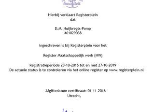 Registratie Maatschappelijk Werker
