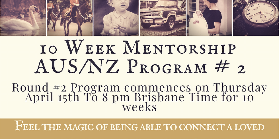 Round # 2 - 10 Week Mentorship Program AUS/NZ