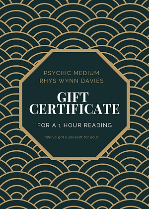 1 hour Gift Certificate with Rhys Wynn Davies