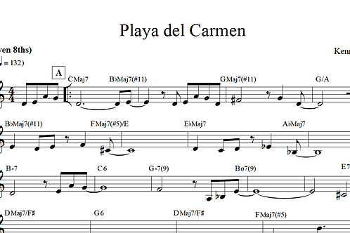 Kenny Cha - Playa del Carmen (Lead Sheet)