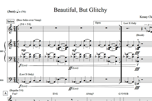 Kenny Cha - Beautiful, But Glitchy (Lead Sheet)