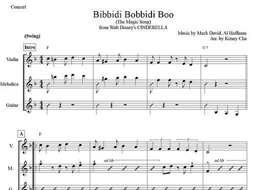 Disney's Cinderella - Bibbidi Bobbidi Boo: Violin, Melodion, Guitar Ver.