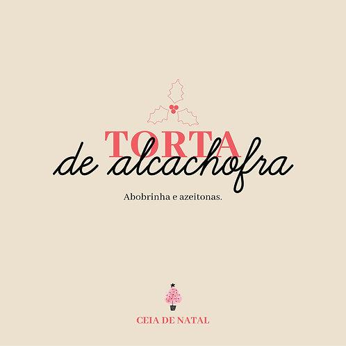 Torta de Alcachofra, abobrinha e azeitonas - 8 fatias