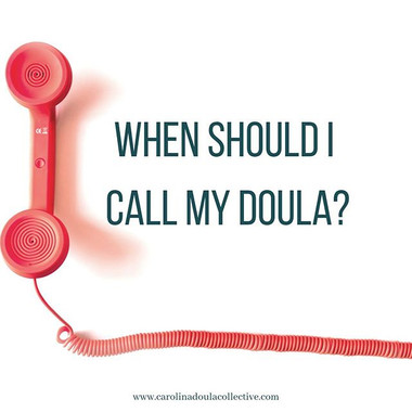 When should I call my doula_ This is one
