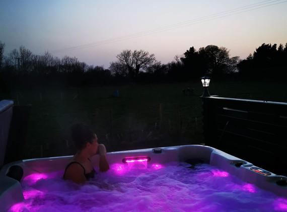 Lovely hot tub lighting