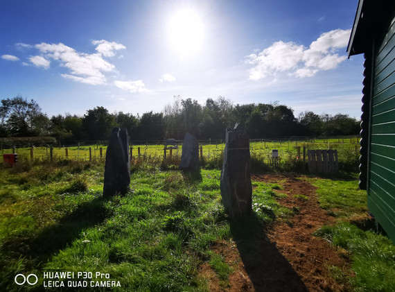 Standing stones at Cwtch