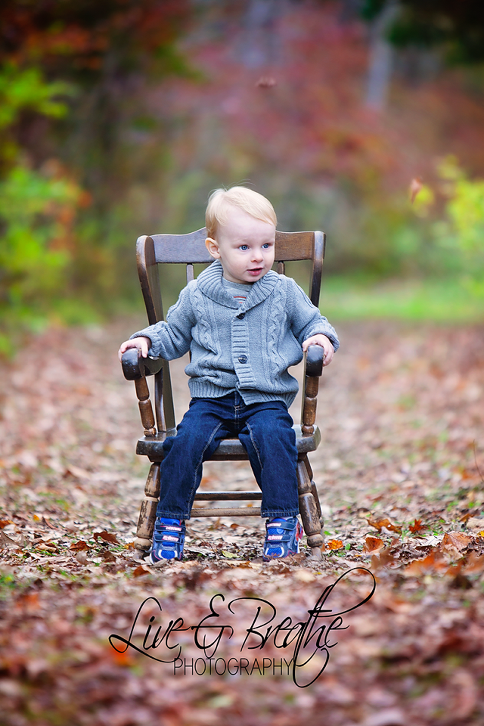 little man in chair