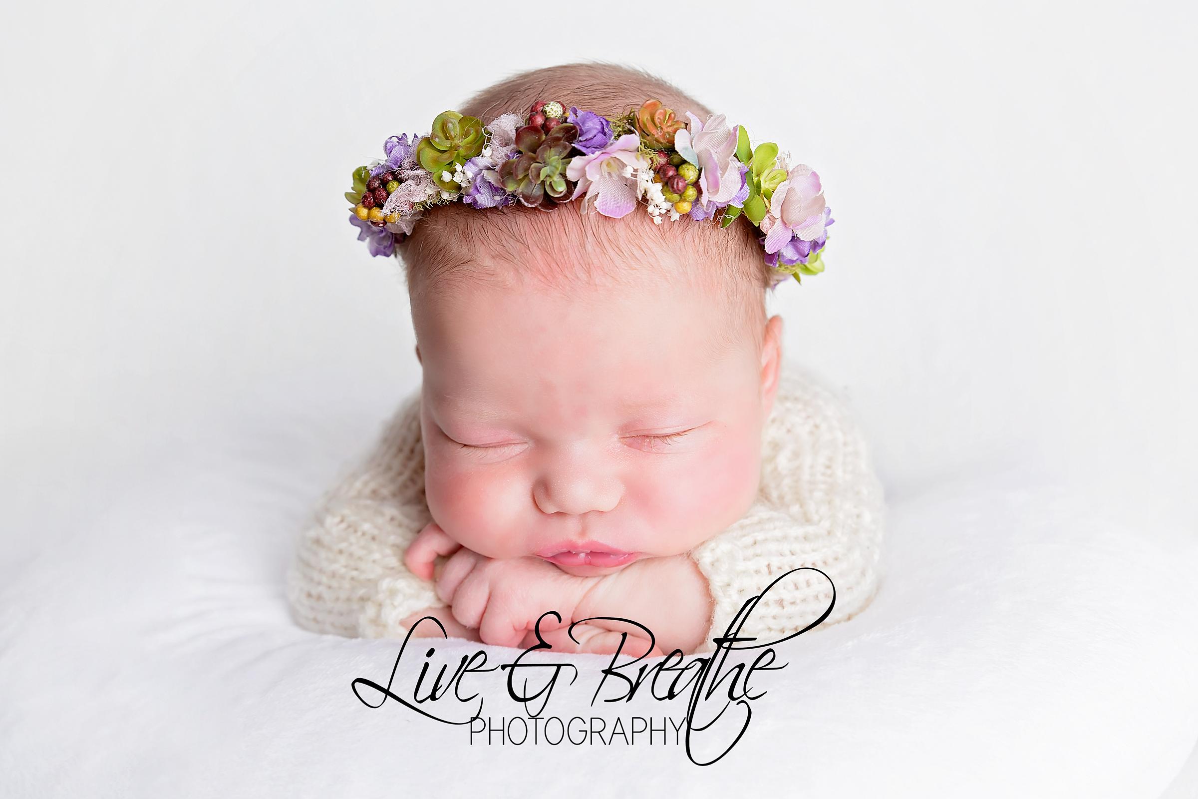 Newborn with halo