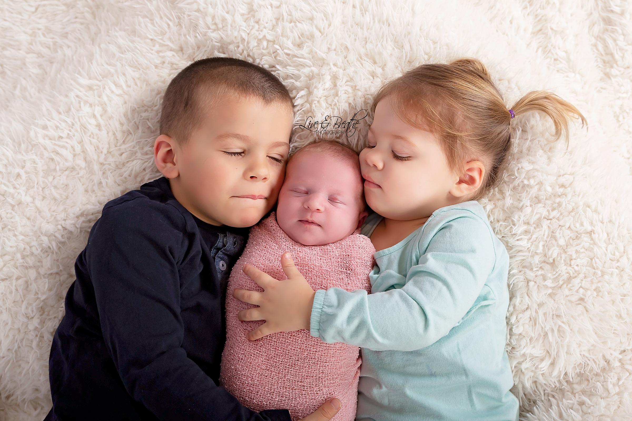 Newborn Girl Siblings