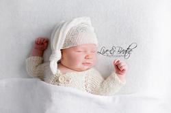 Newborn Boy in Sleepy outfit Kingston Ontario