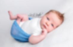 Baby Boy in Blue, Kingston ontario Newborn Photographer