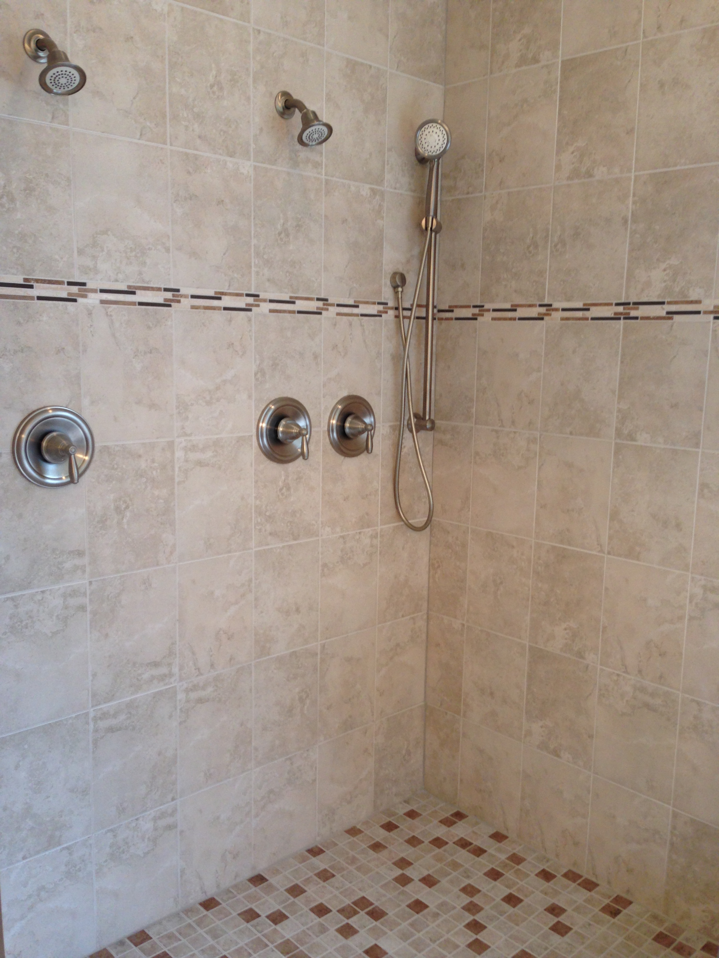 Master Bath with large double shower