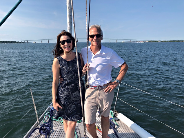 Sailing with friends in Newport