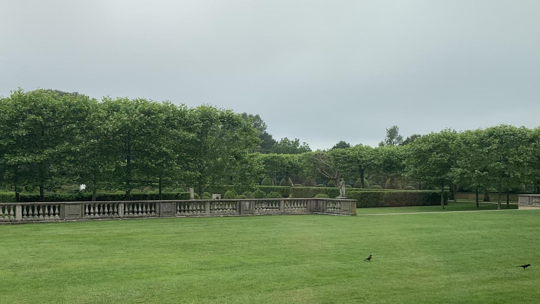 Overlooking the gardens