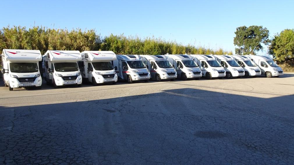Amafi Caravaning rental fleet