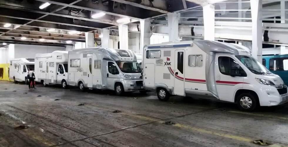 autocaravanas en el ferry