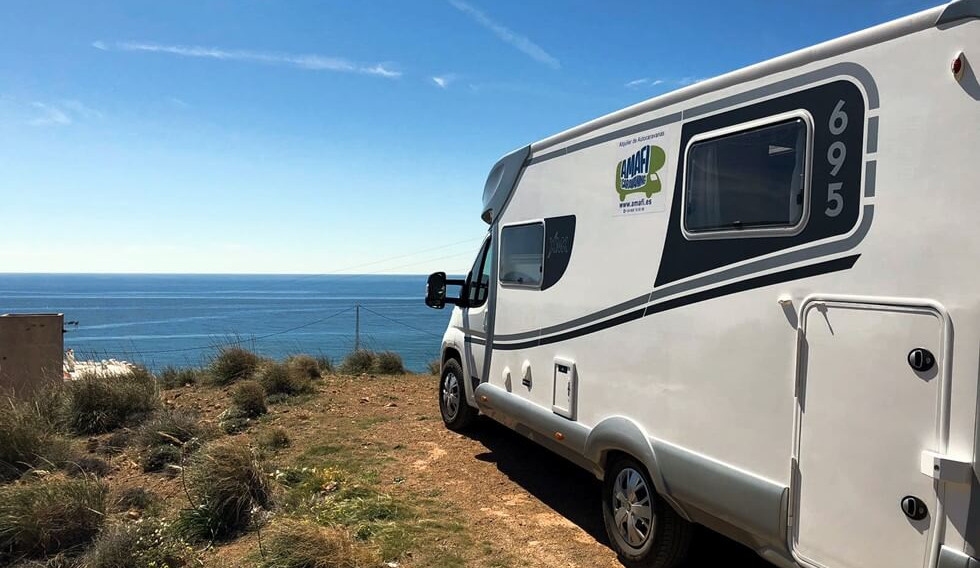 Mediterranean view from the motorhome