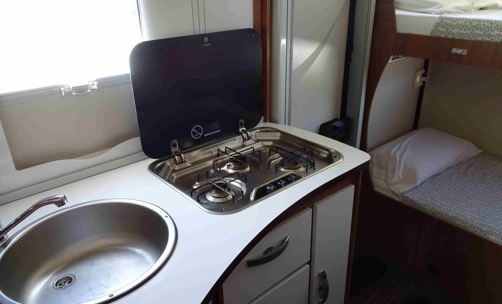 motorhome with kitchen