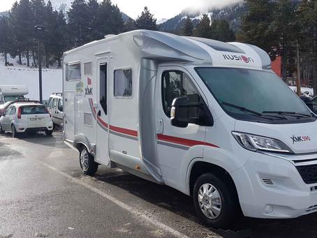 Nieve en el Pirineo en autocaravana