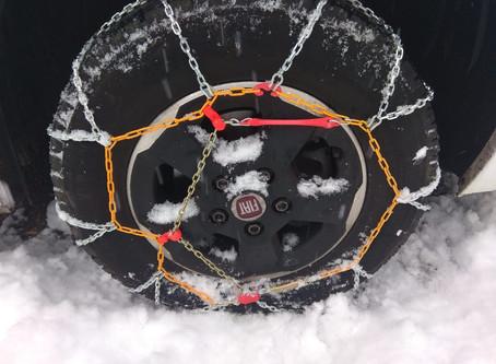 Cómo usar cadenas para nieve en autocaravanas