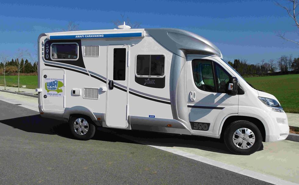 Camping-car 4 places avec panneau solaire