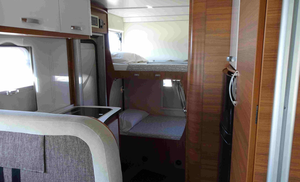 motorhome with large bunk beds