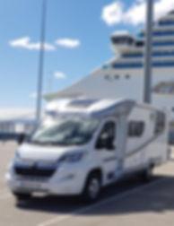 entrega autocaravana en puerto