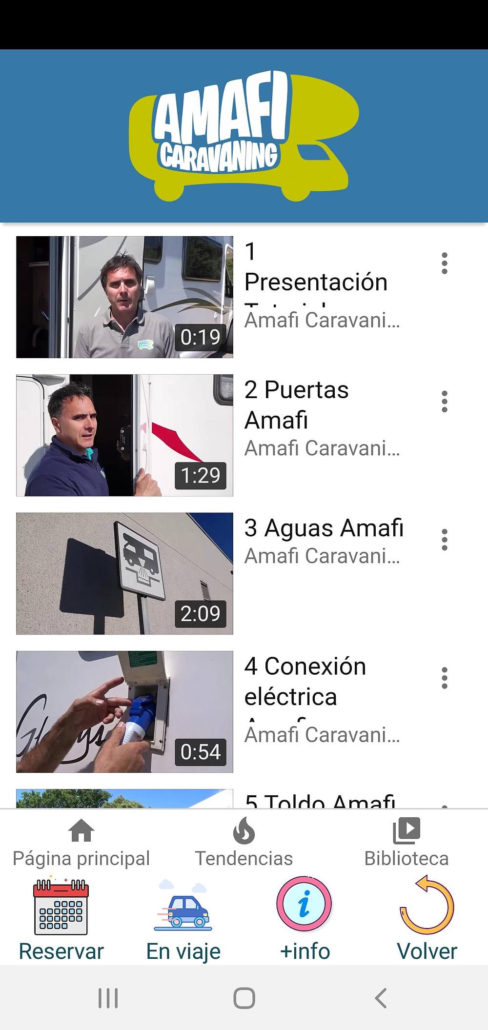 vídeos tutoriales uso autocaravanas