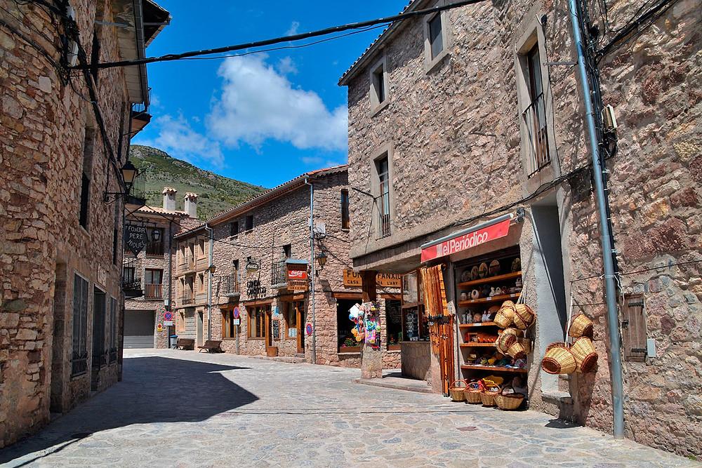 calle, tiendas, castellar de n hug, barcelona