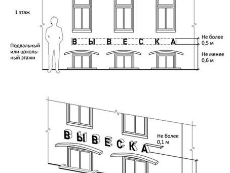 902-ПП: как разместить вывеску, если офис расположен в подвале