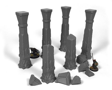 Dwarven Terrain: Second Hall Pillars