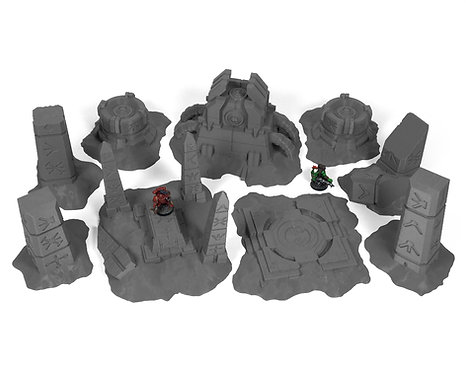 Ancient Alien Ruins Terrain: Table Bundle